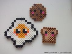 Cute Toast, Egg, and Cookie by MARscianimefiVEL.deviantart.com on @DeviantArt