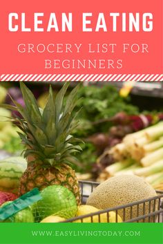 This clean eating grocery list for beginners will make your like 10 times easier when it comes times to go grocery shopping! I promise!