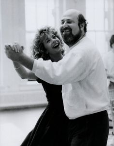 Meg Ryan and Rob Reiner on the set of WHEN HARRY MET SALLY (1989)
