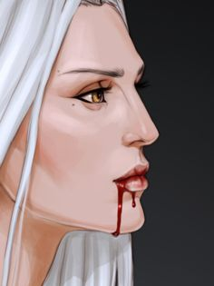 Drinking blood directly from the wound is considered an old fashion. Yunka does so at times, and the gruesome practice has gained her respect from the well's most ancient parts.
