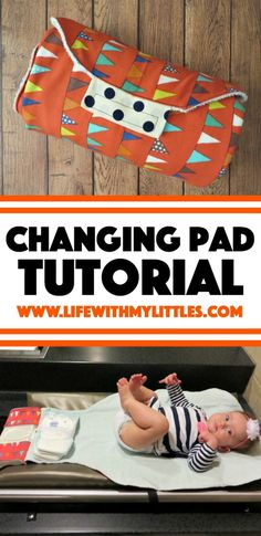 Sew your own changing pad with built-in diaper and wipes holders. A simple tutorial with lots of pictures, perfect for baby shower gifts! # diy baby gifts Changing Pad Tutorial - Life With My Littles Diy Baby Gifts, Baby Crafts, Homemade Baby Gifts, Diy Gifts For Babies, Easy Baby Gifts To Make, Gifts To Sew, Baby Shower Gifts To Make, Baby Diy Stuff, Kids Gifts