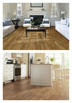 When you're looking for flooring that's durable, cost-effective and gorgeous you can't go wrong with vinyl planks. This Pacific Pine Vinyl floor is ready for the high traffic of a kitchen, and good looking enough for a formal living room. Click through to see the wide selection of easy-to-install vinyl flooring at The Home Depot.