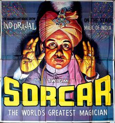 Sorcar The World's Greatest MagicianMagic Poster