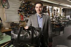 1st Class Traveler #Duffle #Bag in #Black #Italian Napa #Leather