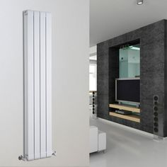 Rapture Aluminium Design Radiator 1600mm x 316mm -1572 Watt - Wit - Image 1