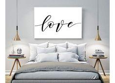 Plakat typograficzny MIŁOŚĆ A3 LOVE - black-dot-studio - Wydruki cyfrowe