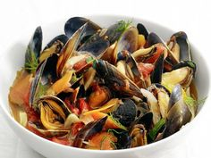 Get Food Network Kitchen's Steamed Mussels with Fennel and Tomato Recipe from Food Network