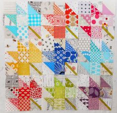 Modern maple leaf quilt, WIP by Pinkadot Quilts: Quilt Retreat