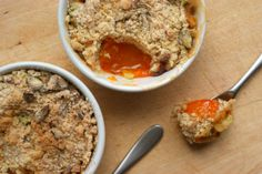 Amazing recipe for Apricot and Pistachio crumble, the two flavours work so deliciously well together!