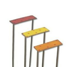Walking Step Picks www.teeliesfairygarden.com . . . These walking step picks make great fairy stairs leading up to a porch or treehouse. Even though fairies can fly anywhere they are going, they love the bright colors of these steps and they can be used by fairy creatures who can't fly, so that they can have exciting adventures together. #fairypicks