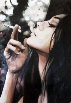 "Saatchi Online Artist: thomas saliot; Oil, 2013, Painting ""Smokin' profile"""