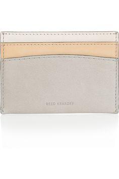 leather card holder | reed krakoff.