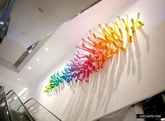 145 Shoes On Multicolored Legs – Breuninger Store Installation // John Breed | Afflante.com