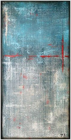 """""""steel accents""""acrylic on canvas by Antje Hettner"""