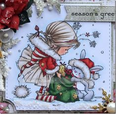 christmas cards with whimsy stamps Xmas Drawing, Family Drawing, Christmas Drawing, Christmas Paintings, Christmas Cards To Make, Diy Christmas Gifts, Kids Christmas, Whimsy Stamps, Digi Stamps