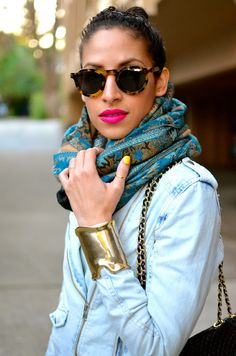 let your lipstick be an accessory to your outfit. Her pink lips are the perfect pop of color on her pout