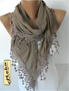 SALE  990 USD-Fashion Scarf Cotton Scarf with trim by MebaDesign