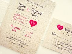 Shabby Chic rustic wedding invitation. - would use pale peach and seafoam