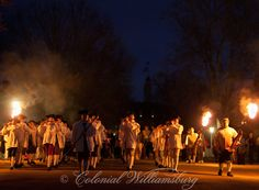 Fife and Drum Corps marching at Christmas time