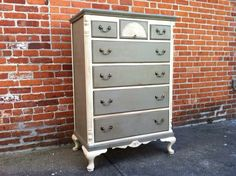 Grey and white drawers