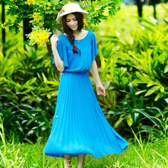 Pleated maxi!-FashionTheBox.Com