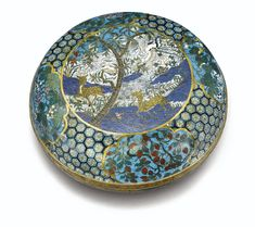RARE LARGE BOX COVERED IN GILT BRONZE AND CLOISONNÉ CHINA, QING DYNASTY, QIANLONG PERIOD (1736-1795)