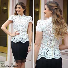 """699 Me gusta, 77 comentarios - Doce Maria  (@docemaria_oficial) en Instagram: """"Essa blusa é o equilíbrio do elegante com o feminino ✨❤️ Disponível nas lojas nas cores OFF{da…"""""""
