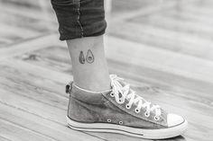 Hand poked avocado tattoo on the ankle. Tattoo artist: Nano ...