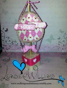 Hot Air Balloon #SVG #Paper #craft #scrapbook #scrapbooking #3D #Pink #White #joy #decor #decoration #handmade www.fb.com/EndlessPossibilitiesSA