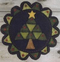 Penny rug Christmas tree.