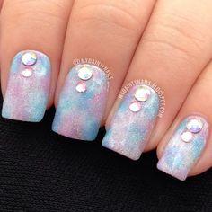 """""""Watercolor"""" nails"""