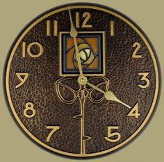 Wall Clock with Dard Hunter Rose