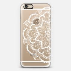 White Feather Mandala on Clear - Classic Snap Case