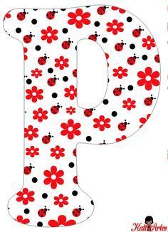 Flowers and Ladybugs Free Alphabet. Alfabeto de Flores y Mariquitas. Alphabet Letters Design, Alphabet And Numbers, Good Morning Funny Pictures, Diy And Crafts, Crafts For Kids, Ladybug Party, Soul Art, Letter Templates, Lettering Design