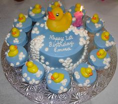 baby boy 1st birthday cupcake ideas | For her first birthday, we picked the duck birthday cake from the ...