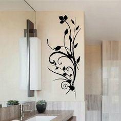 Vinyl Wall Decal Flower Cute Sticker Home Arts Floral Home Glass Design, Wall Design, House Design, Paint Designs, Cool Designs, Creative Wall Painting, Vinyl Wall Decals, Cute Stickers, Home Art