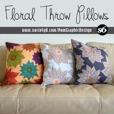 Floral Throw Pillows Collection by Pom Graphic Design @Society6 #pomgraphicdesign #home #decor #decorideas #floraldecor #floralpattern #floraltrend #throwpillow #pillows #cushion #homeware #art #flowers
