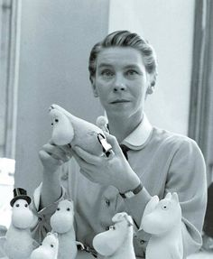 Tove Jansson August 1914 – 27 June was a Swedish-speaking Finnish novelist, painter, illustrator and comic strip author. Jansson is best known as the author of the Moomin books for children. Tove Jansson, Moomin Books, Les Moomins, Moomin Valley, Celebrity Gallery, Illustration, Little My, Stop Motion, Childrens Books