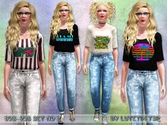 This set contains two outfits in the style of the 80s/90s  Found in TSR Category 'Sims 3 Female Clothing Sets'