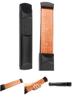 [Visit to Buy] SEWS Portable Pocket Guitar 6 Fret Model Wooden Practice 6 Strings Guitar Trainer Tool Gadget for Beginners #Advertisement