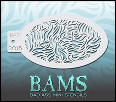 BAM2015 Bad Ass Mini Stencil: Silly Farm Supplies Inc. Face Painting | Body Painting | Airbrush Supplies | Arty Brush Cakes | Rainbow Cakes | Clown Supplies