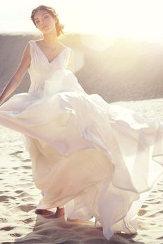Perfect dress for a Destination Wedding!  Beautiful beach shot!