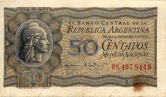 Argentina: Anverso de Billete de 50 centavos de Peso Moneda Nacional - Gobierno de Perón.png