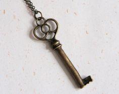 Key of Love - Vintage Look Key Necklace (N101)