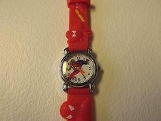 Red Spider-Man Children boy Cartoon PVC Band Quartz Wrist watch Toy Xmas 307