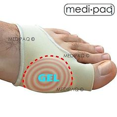 MEDIPAQ™ Gel Big Toe Bunion Protector Support - Bunions Blisters Gout Foot Pain in Foot Care | eBay