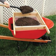 Wheelbarrow Sifter for Compost and Soil | Gardeners Edge
