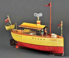 Marklin 'Blenheim' clockwork riverboat