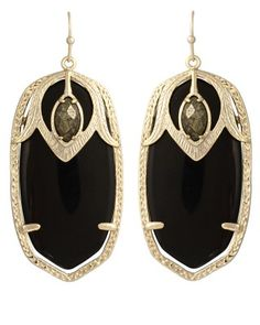Darby Earrings in Black Sambuca