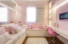 """4,737 Likes, 24 Comments - Arq•Home•Décor•Casa•Int•blog (@_homeidea) on Instagram: """"Bons sonhos com este quarto delicado e lindo by Monise Rosa. Amei❣️{não tem como negar que o rosa…"""""""